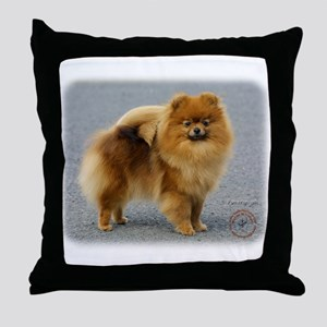 Pomeranian 9R042D-22 Throw Pillow