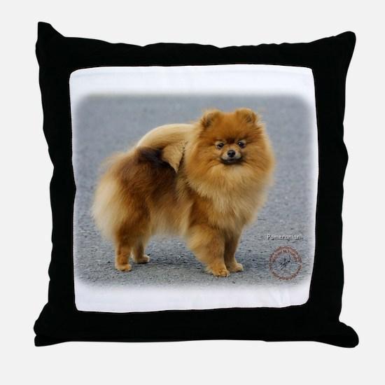Pomeranian 9R042D-22 Throw Pillow