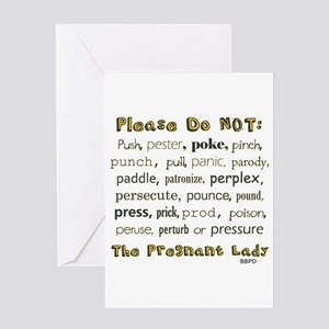 Dont touch my belly greeting cards cafepress the pregnant lady greeting card m4hsunfo