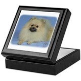 Pomeranian photo Square Keepsake Boxes