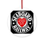 Seaboard Railway Ornament (Round)