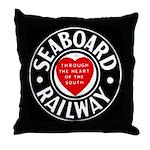Seaboard Railway Throw Pillow