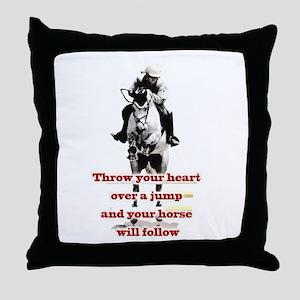 Show Jumper Throw Pillow