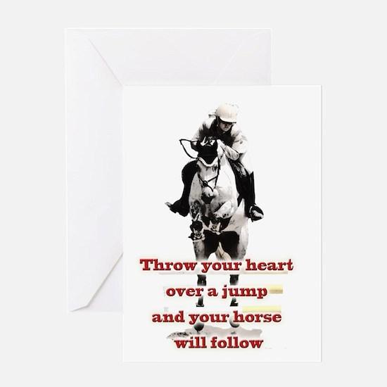 Show Jumper Greeting Card