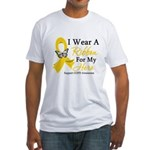 COPD Ribbon Hero Fitted T-Shirt