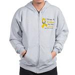 COPD Ribbon Hero Zip Hoodie