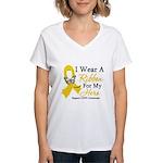 COPD Ribbon Hero Women's V-Neck T-Shirt
