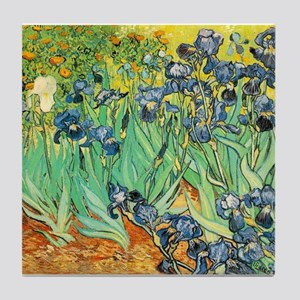 Irises Tile Coaster
