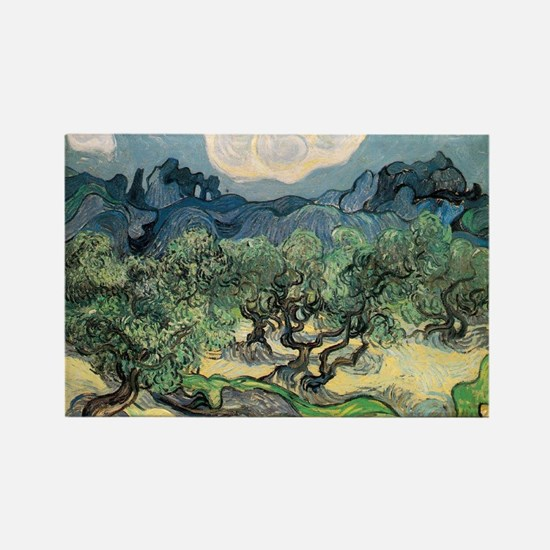 Olive Trees with the Alpilles Rectangle Magnet