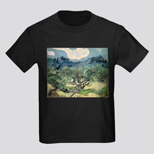 Olive Trees with the Alpilles Kids Dark T-Shirt