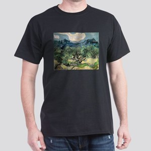 Olive Trees with the Alpilles Dark T-Shirt