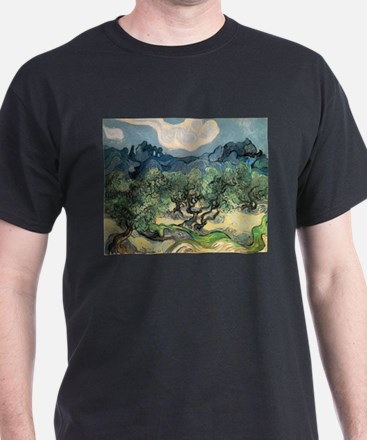 Olive Trees with the Alpilles T-Shirt
