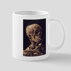 Skull with a Burning Cigarett Mug