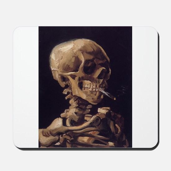 Skull with a Burning Cigarett Mousepad