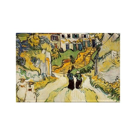 Stairway at Auvers Rectangle Magnet (10 pack)