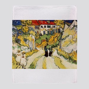 Stairway at Auvers Throw Blanket