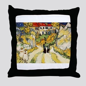 Stairway at Auvers Throw Pillow