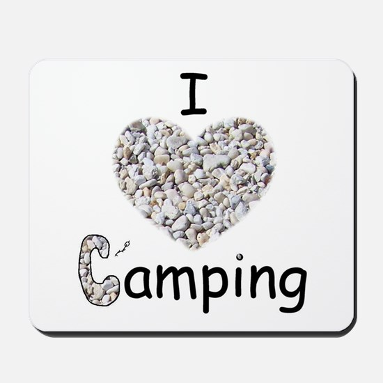 I LOVE CAMPING Mousepad