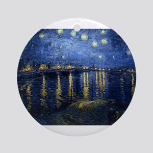 Starry Night Over the Rhone Ornament (Round)