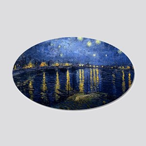 Starry Night Over the Rhone 22x14 Oval Wall Peel
