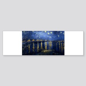 Starry Night Over the Rhone Sticker (Bumper)