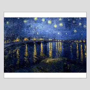 Starry Night Over the Rhone Small Poster