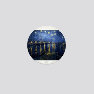 Starry Night Over the Rhone Mini Button