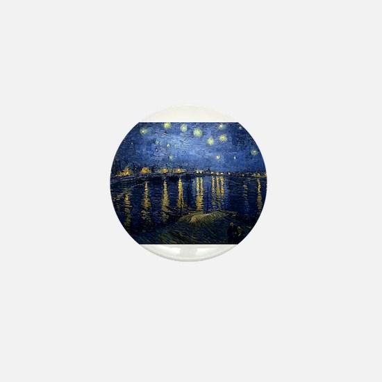 Starry Night Over the Rhone Mini Button