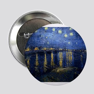 "Starry Night Over the Rhone 2.25"" Button"