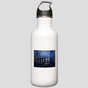 Starry Night Over the Rhone Stainless Water Bottle