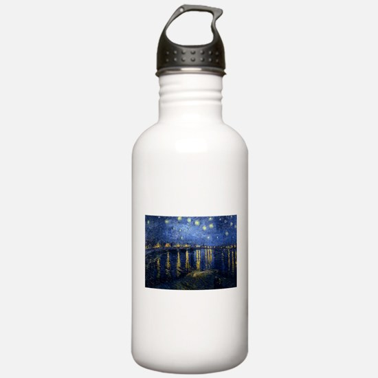 Starry Night Over the Rhone Water Bottle
