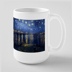 Starry Night Over the Rhone Large Mug