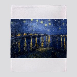 Starry Night Over the Rhone Throw Blanket