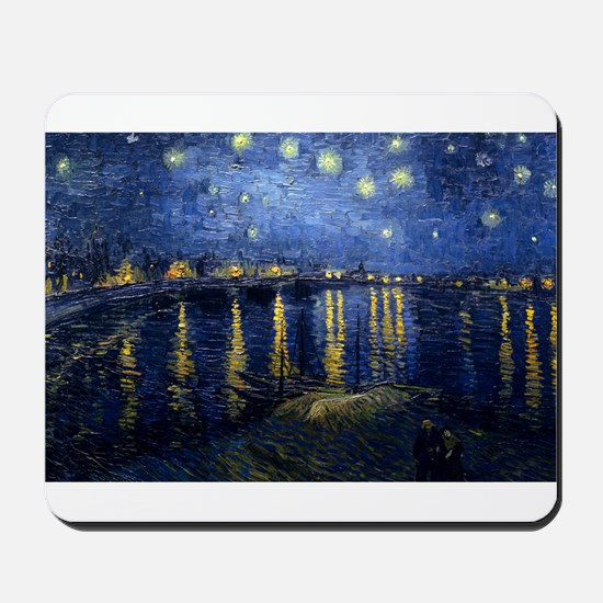 Starry Night Over the Rhone Mousepad