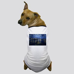 Starry Night Over the Rhone Dog T-Shirt
