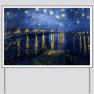 Starry Night Over the Rhone Yard Sign