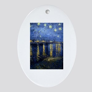 Starry Night Over the Rhone Ornament (Oval)