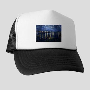 Starry Night Over the Rhone Trucker Hat