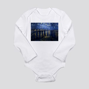 Starry Night Over the Rhone Long Sleeve Infant Bod