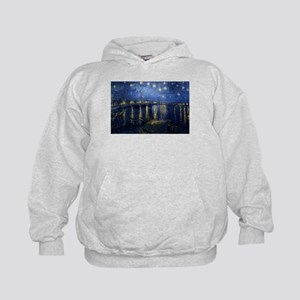 Starry Night Over the Rhone Kids Hoodie