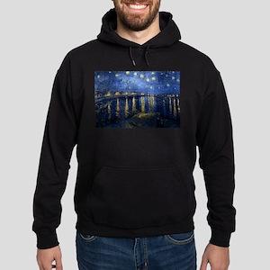 Starry Night Over the Rhone Hoodie (dark)