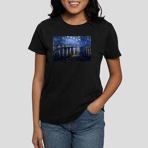 Starry Night Over the Rhone Women's Dark T-Shirt
