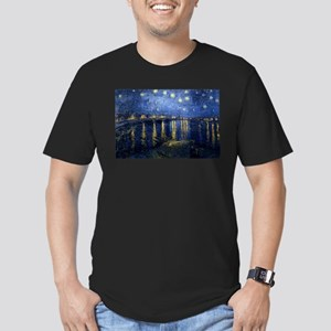 Starry Night Over the Rhone Men's Fitted T-Shirt (