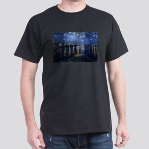 Starry Night Over the Rhone Dark T-Shirt