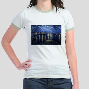 Starry Night Over the Rhone Jr. Ringer T-Shirt