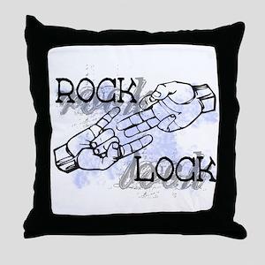Rock Lock Throw Pillow