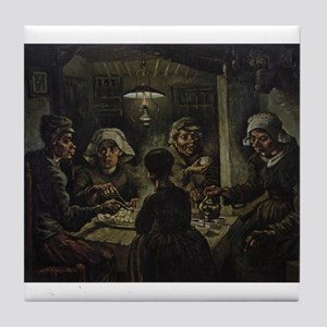 The Potato Eaters Tile Coaster