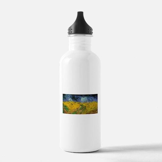 Wheat Field Under Threatening Water Bottle