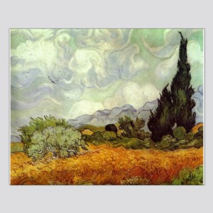 Wheat Field with Cypresses Small Poster
