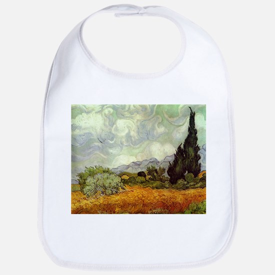 Wheat Field with Cypresses Bib